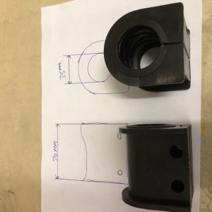 FORD CARGO - REAR ROLL BAR D BUSHES 35MM OVER 7.5TON TRUCK